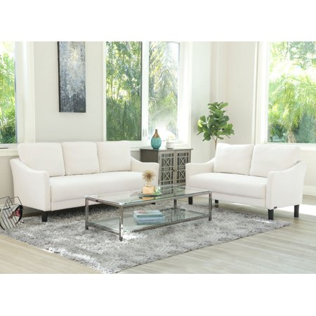Devon & Claire Elise Fabric Sofa and Loveseat, Ivory
