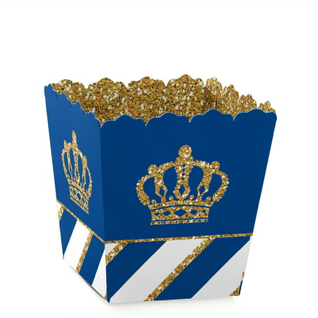 Baby Shower Bags For Candy (Royal Prince Charming - Party Mini Favor Boxes - Baby Shower or Birthday Party Treat Candy Boxes - Set of)