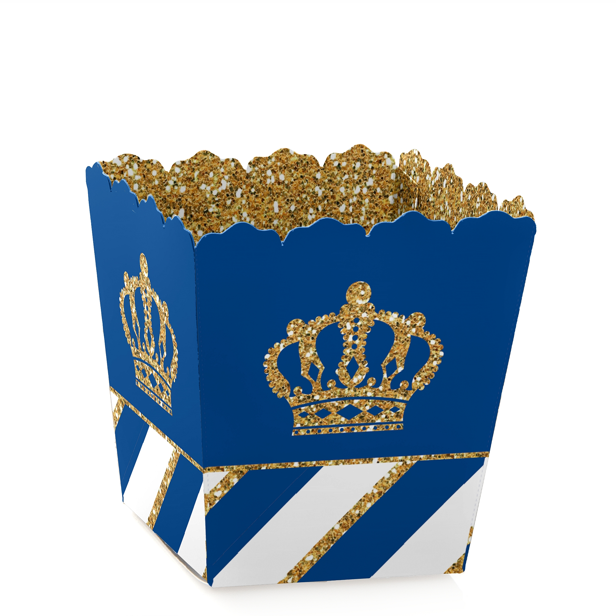 Royal Prince Charming - Party Mini Favor Boxes - Baby Shower or Birthday Party Treat Candy Boxes - Set of 12