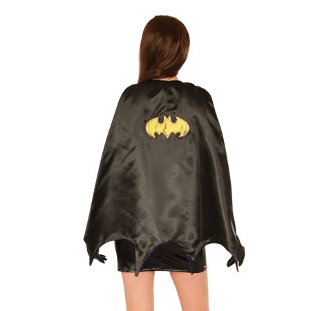 Capes For Women (Womens Deluxe Black Double Sided Batman Batgirl Classic Cape Costume)
