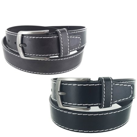 Hermitage Leather (Faddism Men's Leather Classic Heritage Series Business Single Prong Buckle Belt G315)