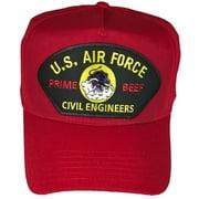 USAF AIR FORCE PRIME BEEF VETERAN HAT CHARGING CHARLIE RED HORSE CIVIL ENGINEER