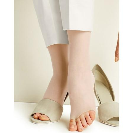 b7a4b372266 Hanes - Silk Reflections Womens Toeless Knee High - Walmart.com