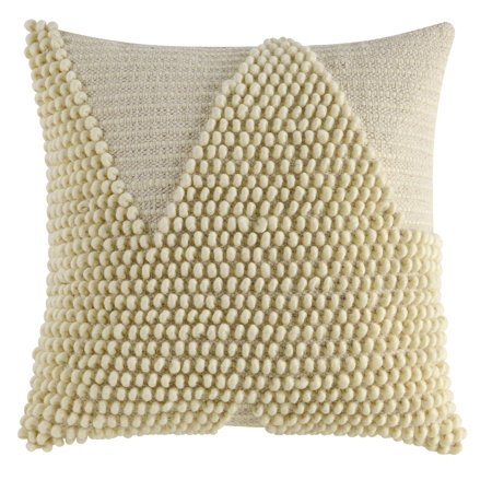 - Better Homes & Gardens Handcrafted Looped Triangle Decorative Throw Pillow, 18