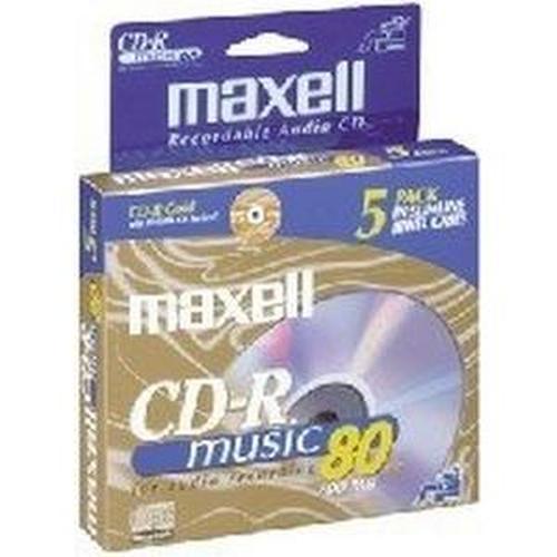 Maxell 625132 Music CD-Rs, 5pk