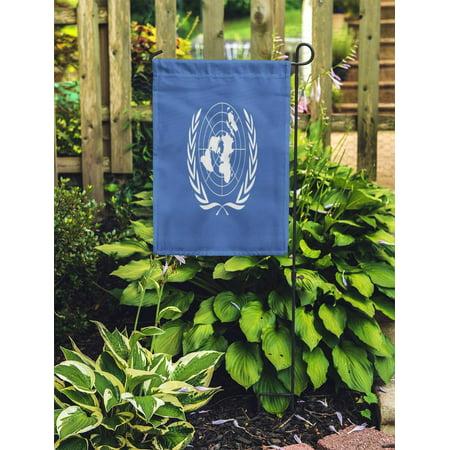 POGLIP Emblem United Nations Flag for 10 24 Day Graphic Label Garden Flag Decorative Flag House Banner 12x18 inch - image 2 of 2