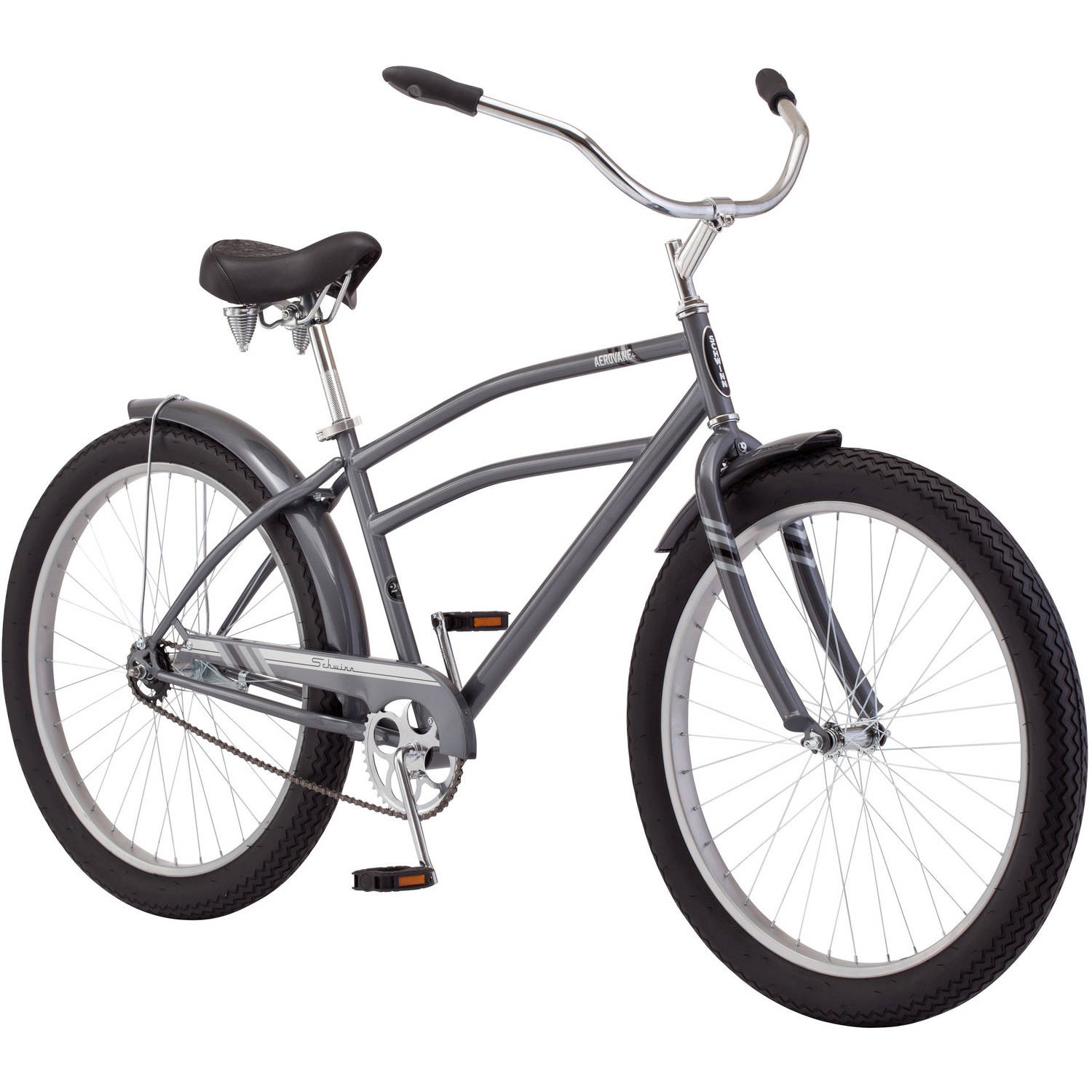 "26.5""+ Schwinn Aerovane Men's Cruiser Bike, Gray"