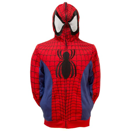 Marvel Spider-Man Men's Cosplay Full Zip Hoodie](Spiderman Cosplay For Sale)