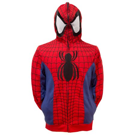 Spiderman Hoodie Mens (Marvel Spider-Man Men's Cosplay Full Zip)