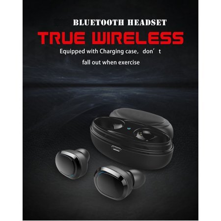 Bluetooth Earbuds 5 0 for android 2019, Waterproof Headphones IPX5 for  Apple, for iPhone Xs MAS/XS/SR, LG,G7,Samsung Note9, S9 Moto Z3/P30(Black),