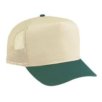 2f909d64 OTTO Cotton Blend Twill Five Panel Pro Style Mesh Back Trucker Hat (0314 -  Blk/Gry) - Walmart.com