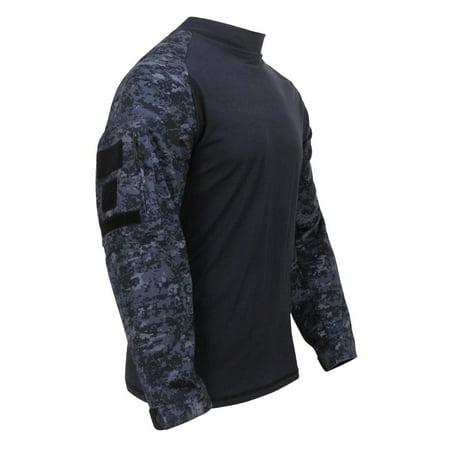 Nyco Ripstop Shirt - Rothco Military Fire Retardant NYCO Combat Shirt, Midnite Digital Camo
