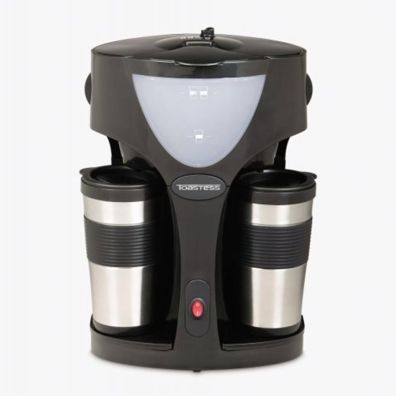 Toastess TFC-42T Silhouette 800-Watt Twin Coffeemaker wit...