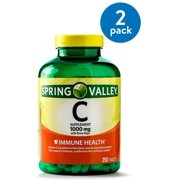 (2 Pack) Spring Valley Vitamin C Tablets, 1000 mg, 250 Ct