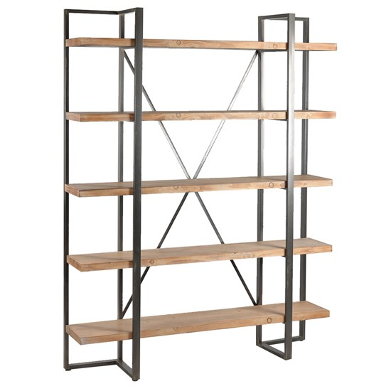 Preston Rustic Metal and Wood Tall Etagere by Crestview Collection