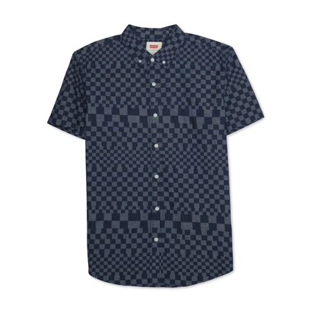 Levi's Mens Check Button Up Shirt dressblue XL - image 1 de 1