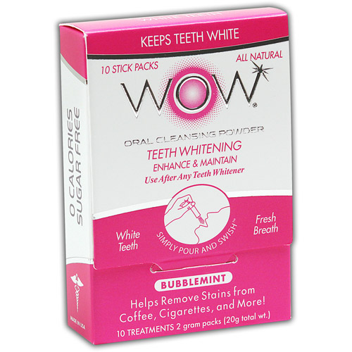 WOW Bubblemint Oral Cleansing Powder, 10 count