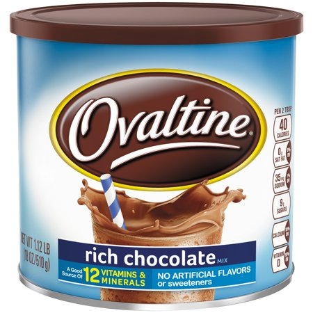 (2 Pack) Ovaltine Drink Mix, Chocolate, 18 Oz, 1 Count Chocolate Drink Mix