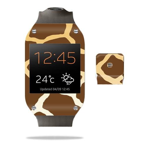 Mightyskins Protective Vinyl Skin Decal Cover for Samsung Galaxy Gear Watch wrap sticker skins Giraffe