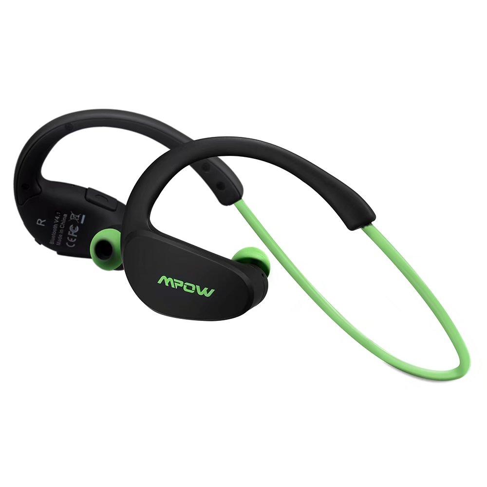 Mpow Cheetah Bluetooth 4.1 Wireless Headphones Stereo Sport Running Gym Exercise Headsets Earphones Hands-free Calling Car Earbuds (Green)