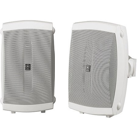 yamaha ns-aw150wh 2-way indoor/outdoor speakers (pair, white)