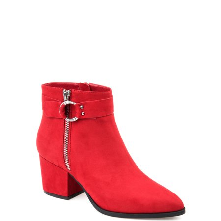 Womens Buckle Accent Pointed Toe -