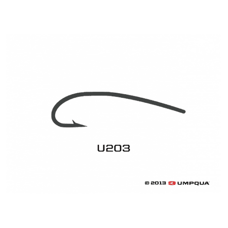 Umpqua U-Series U203 Curved Nymph Fly Tying Hooks
