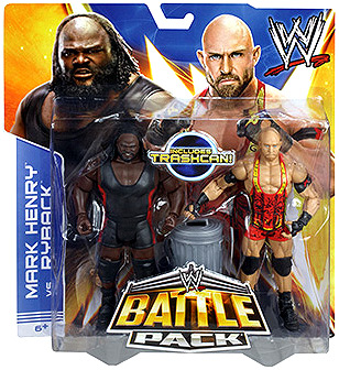 WWE Ryback & Mark Henry with Trashcan Action Figures, 2-Pack BHM41