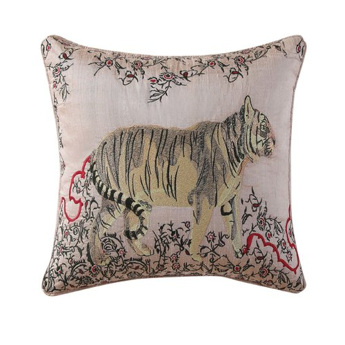 Tracy Porter Fleur Embroidered 100pct Cotton Throw Pillow