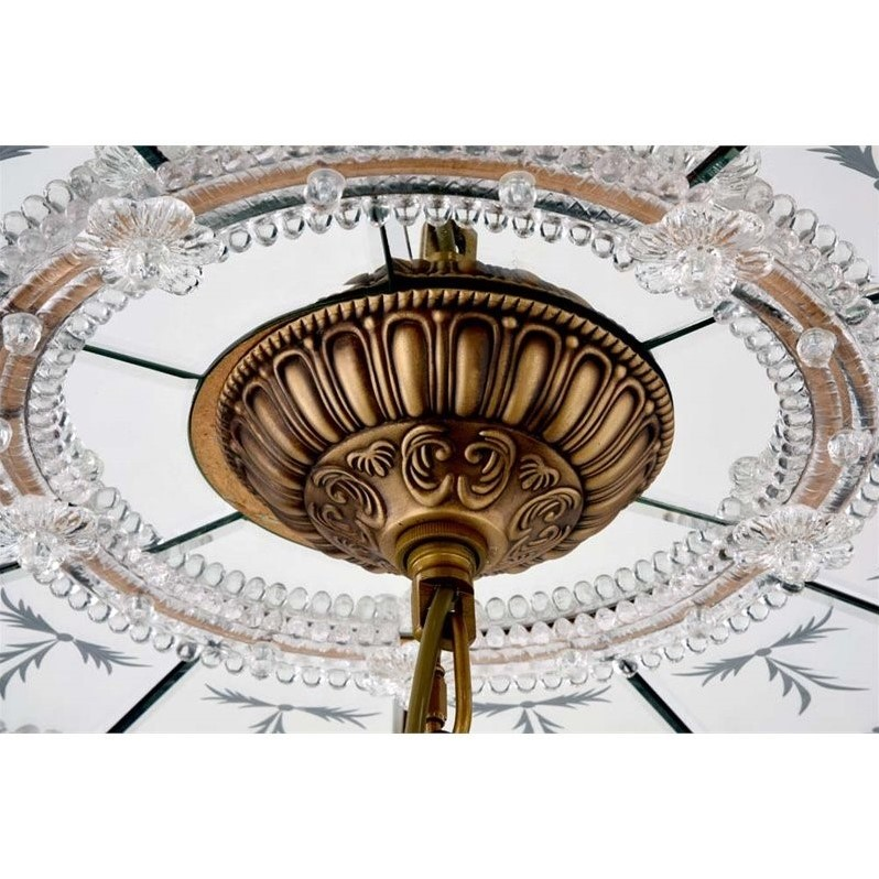 Elegant Lighting 32 Quot Mirrored Medallion Ceiling Canopy In