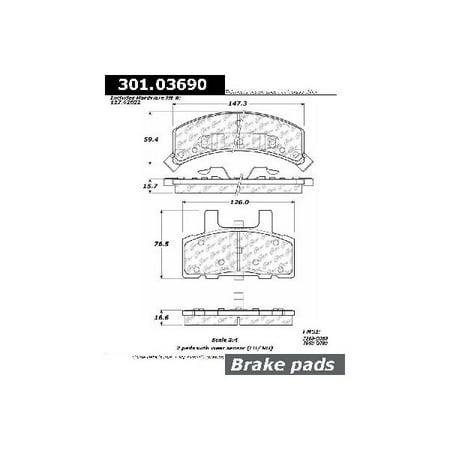 go-parts oe replacement for 1990-2002 gmc safari front disc brake pad set  for gmc safari - walmart com