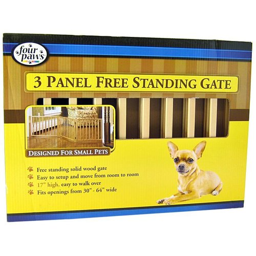 Four Paws 5 Panel Free Standing Gate for Small Pets 3 Panel Free Standing Gate - (Fits Openings 30 Inch - 64 Inch Wide)