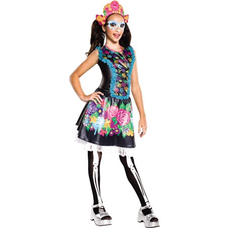 Skelita Calaveras Monster High Girls Day Of The Dead Skeleton Halloween Costume