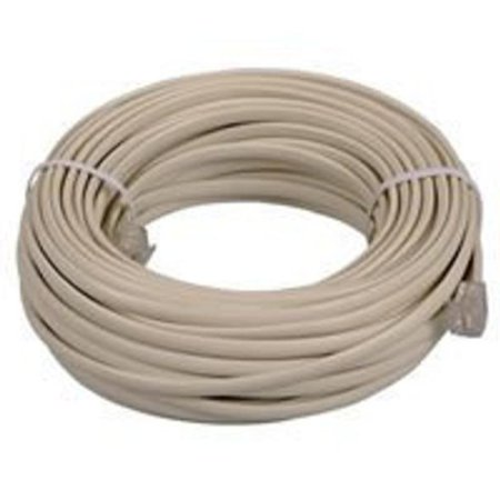 BoostWaves SuperClear 100' FT Foot Ivory Beige Telephone Extension Cord Cable Line Wire (Ivory Extension Cord)