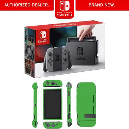 Nintendo Switch 32 GB Console with Gray Joy Con Bundle with Nintendo Switch Lime Skin
