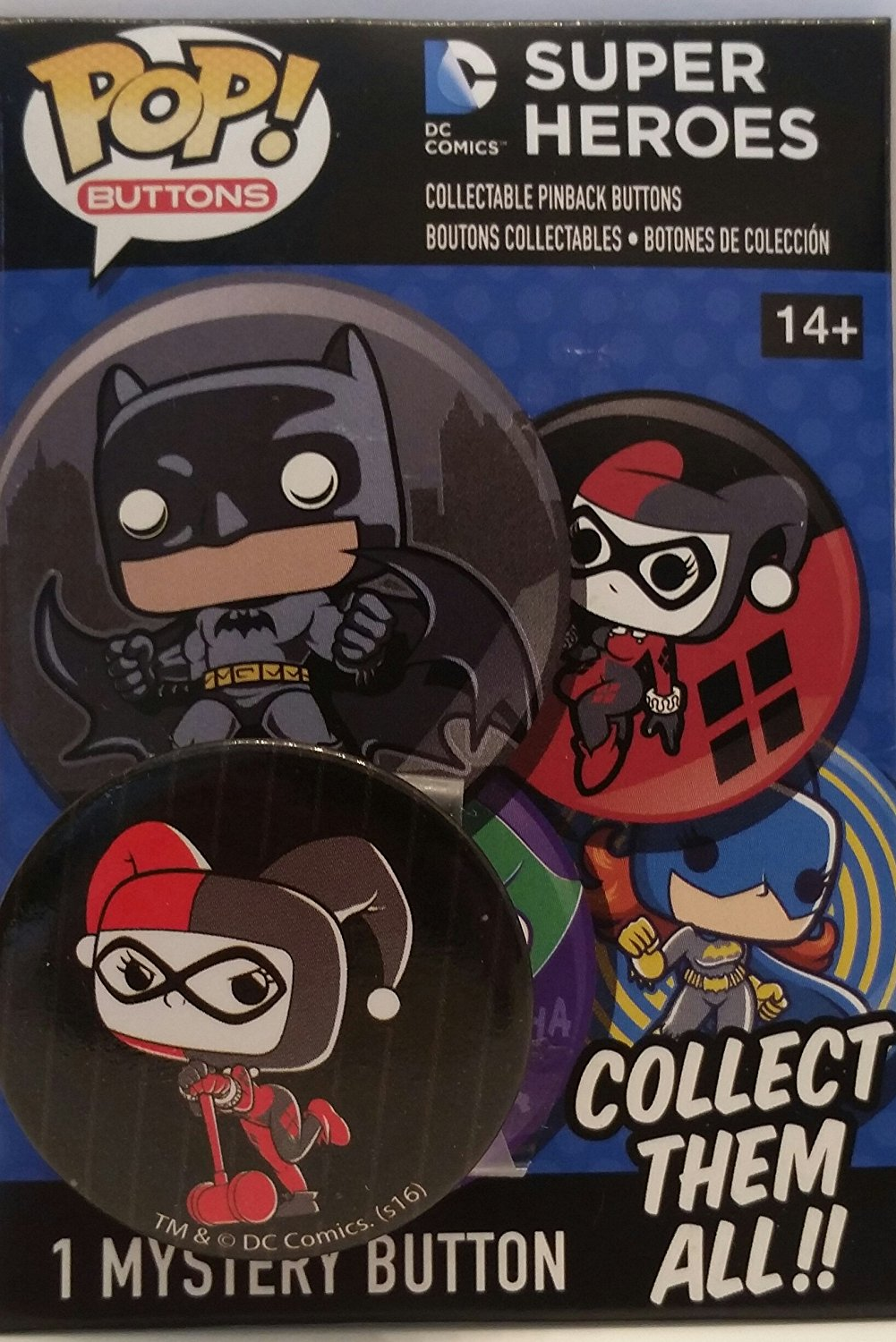 Funko POP! Buttons DC Comics Super Heroes Harley Quinn GND Chase (1 34) by