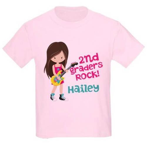 Cafepress Personalized School Rocks Custom Kids Light T-Shirt
