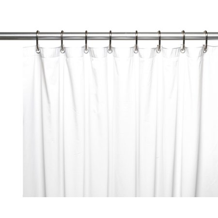 Royal Bath Extra Wide 5 Gauge Vinyl Shower Curtain Liner With Metal Grommets In White Size 108 X 72 Long