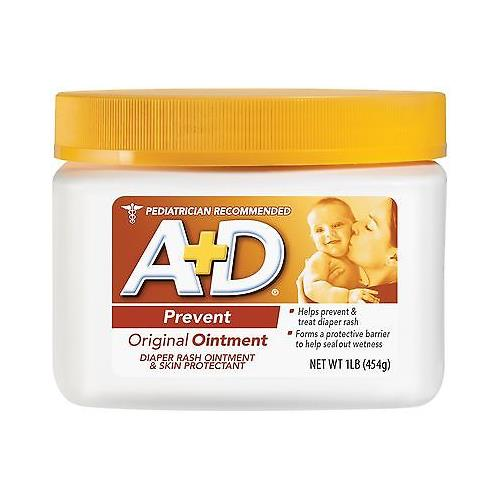 A + D Original Ointment Jar, Diaper Rash and All-Purpose Skincare Formula -1 lb by A%2BD
