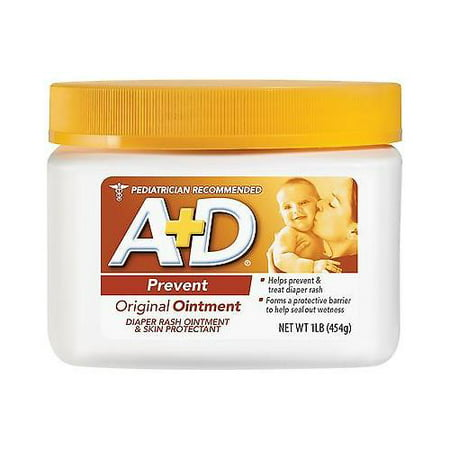 A + D Original Ointment Jar, Diaper Rash and All-Purpose Skincare Formula -1 lb