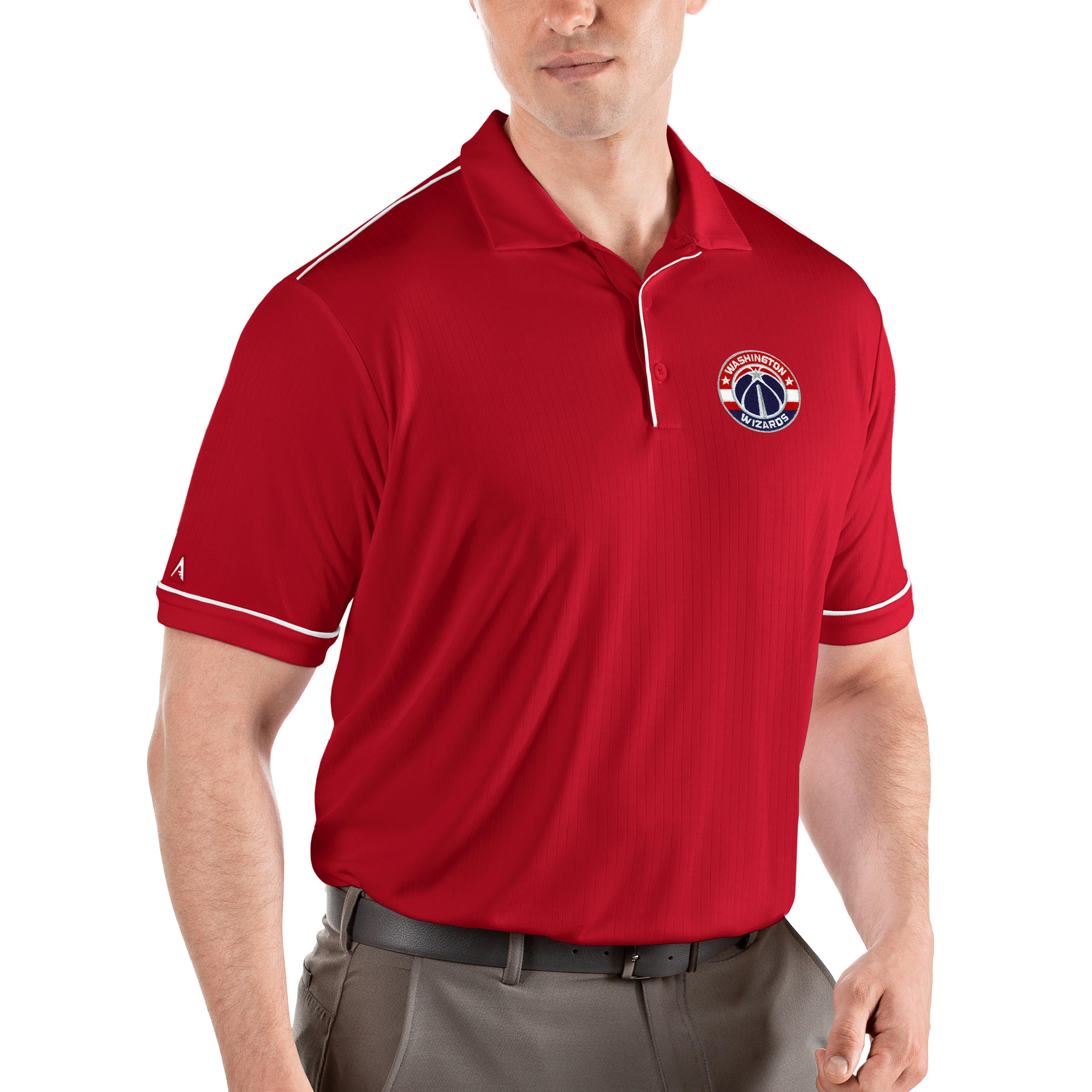 Washington Wizards Antigua Salute Polo - Red/White