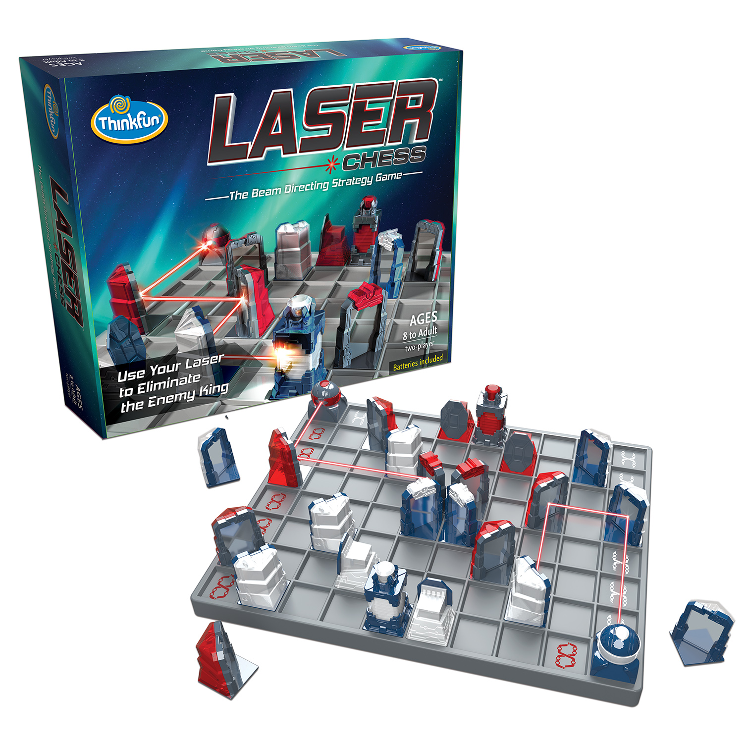 Click here to buy Laser Chess: The Beam Directing Strategy Game by ThinkFun.