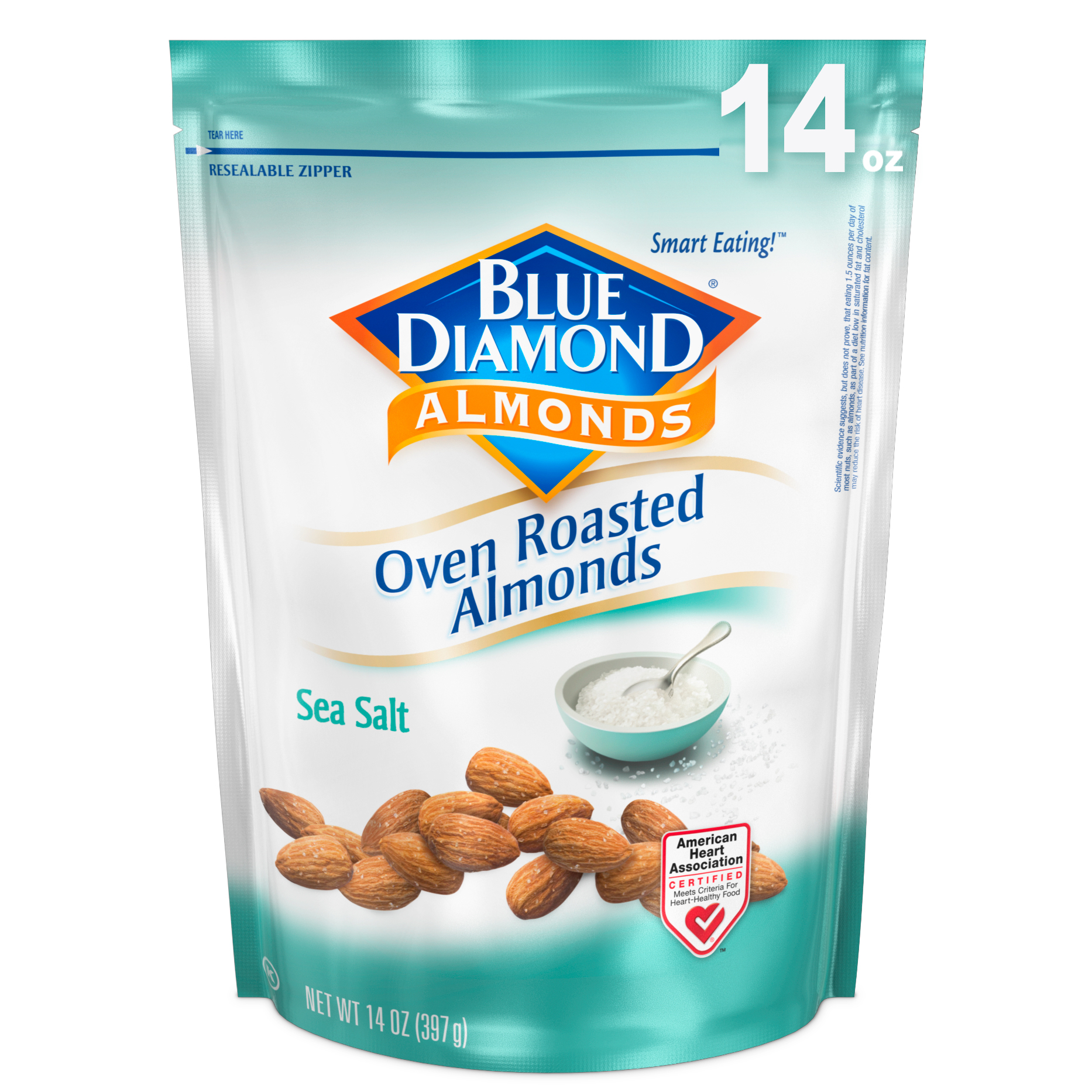 Blue Diamond Almonds Oven Roasted Sea Salt Almonds, 14 Oz.