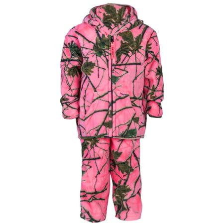 2e19e12a3 TrailCrest - TrailCrest Toddler Camo Two Piece Fleece Jacket & Pants Set,  2T, Rose Camo - Walmart.com