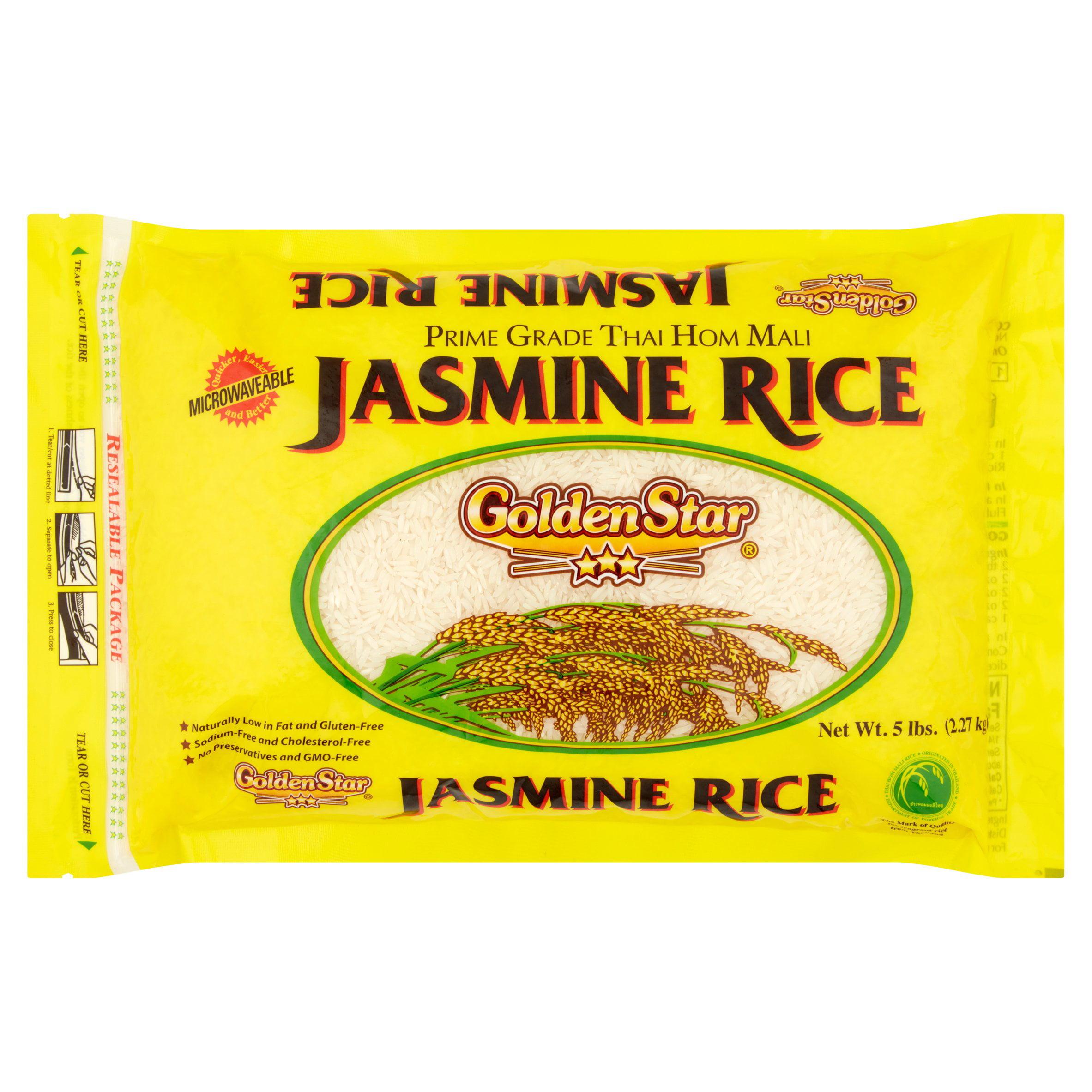 Golden Star Prime Grade Long Grain Fragrant Jasmine Rice, 5 lb