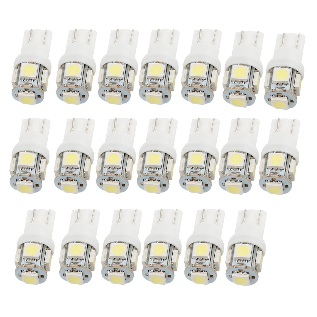 20x T10 5050 W5W 5 SMD 194 168 Interior LED White Car Side Wedge Tail Light Lamp