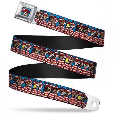 Waldo Bottom Crop Full Color Blue The Waldo Watchers Blue Webbing Seatbelt Seatbelt Belt Standard