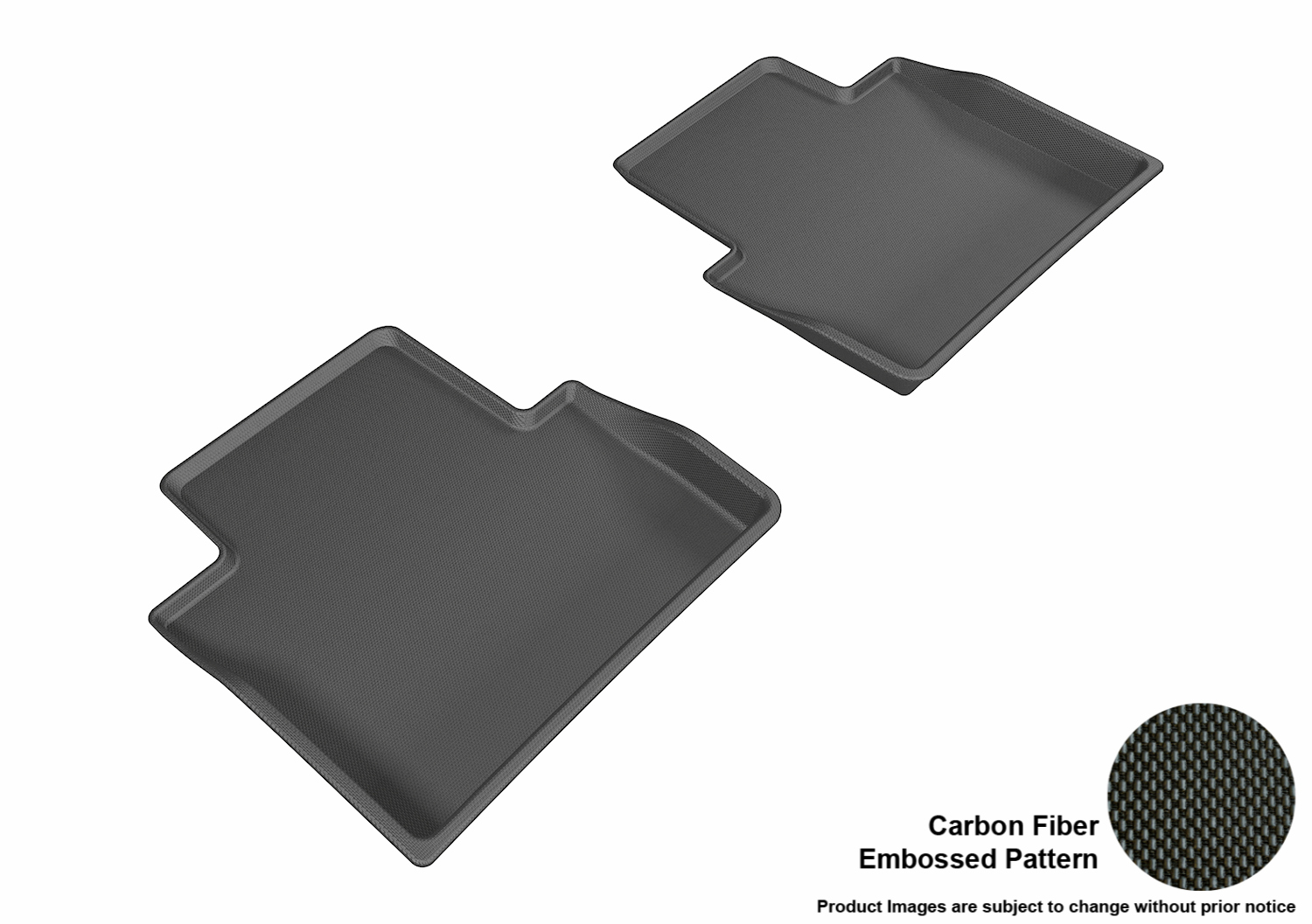 3d maxpider 2015 2016 chrysler 200 second row all weather floor liners in black with carbon. Black Bedroom Furniture Sets. Home Design Ideas