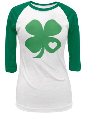 8a868de7 Product Image St. Patricks Day Shamrock Heart Green Juniors 3-4 Raglan T- Shirt. Product TitleOld GlorySt. ...