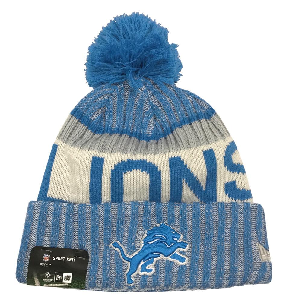 New Era Detroit Lions Knit Beanie Cap Hat NFL 2017 On Field Sideline 11460399 by New Era